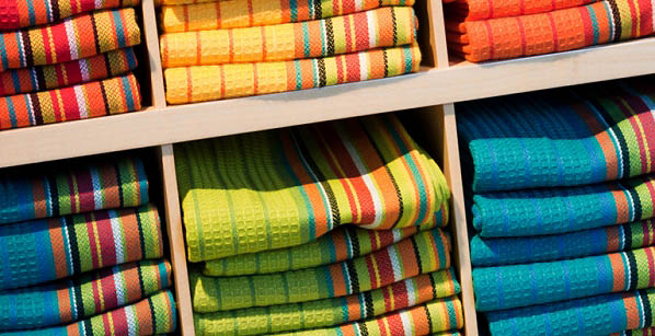 Towels can enhance your kitchen decor