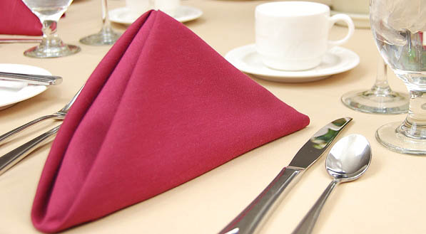 Red Napkins, a perfect addition to table setting